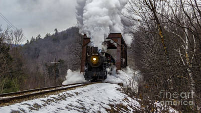 Photograph - Steam In The Snow 2015 by New England Photography