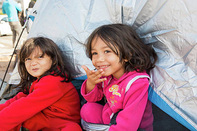 Refugee Girl Photograph - Syrian Refugees by Ashley Cooper