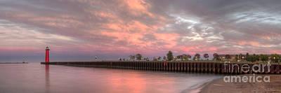 Great Lakes Lighthouse Photograph - The Kenosha Pierhead Lighthouse by Twenty Two North Photography