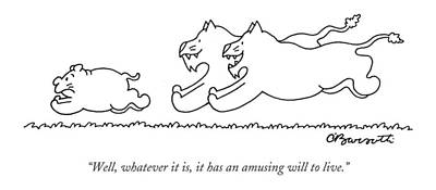 Ambiguous Drawing - Well, Whatever It Is, It Has An Amusing by Charles Barsotti