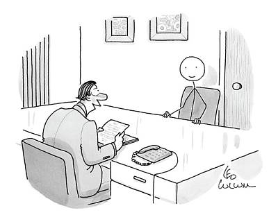 Interview Drawing - New Yorker May 19th, 2008 by Leo Cullum