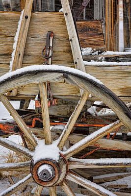 Wagon Wheels Photograph - Usa, California, Bodie by Jaynes Gallery