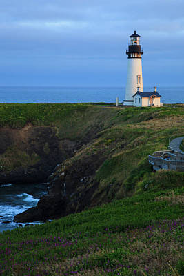 Yaquina Head Lighthouse Photograph - Usa, Oregon, Newport, Yaquina Head by Rick A Brown