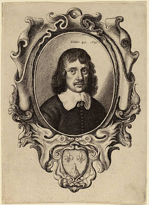 Self-portrait Drawing - Wenceslaus Hollar Bohemian, 1607 - 1677 by Quint Lox