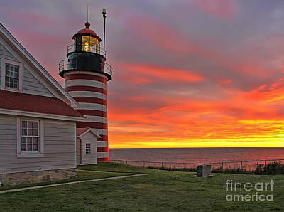 Whimsically Poetic Photographs - West Quoddy Head Lighthouse by Jack Schultz