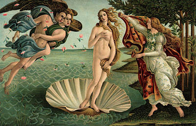 Magic Time Painting - 1400s 1486 Painting Sandro Botticelli by Vintage Images