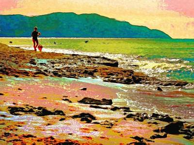 Painting - Beach Walk At Cane Bay - Horizontal  by Lyn Voytershark