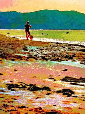 Painting - Beach Walk At Cane Bay - Vertical 1 by Lyn Voytershark