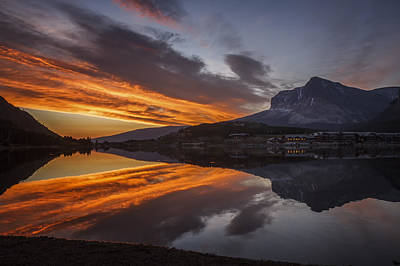 Photograph - 140917a-008 Swiftcurrent Sunrise by Albert Seger