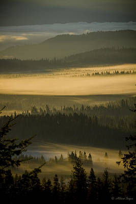 Photograph - Foggy Morning At Priest Lake  -  141010a-021 by Albert Seger