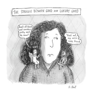 Angels Drawing - New Yorker March 19th, 2007 by Roz Chast