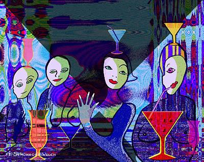 Inuu Digital Art - 147 - Blue Green  Bar by Irmgard Schoendorf Welch