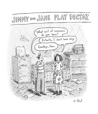Play Pretend Drawing - New Yorker August 20th, 2007 by Roz Chast