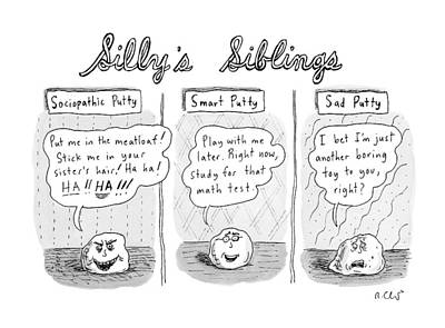 Silly Drawing - New Yorker August 3rd, 2009 by Roz Chast