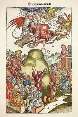 1493 Nuremberg Chronicle Simon The Magus Art Print by Paul D Stewart
