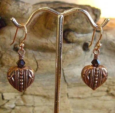 14k Jewelry - 14k Rose Gold Plated Swarovski Copper by Ann Mooney