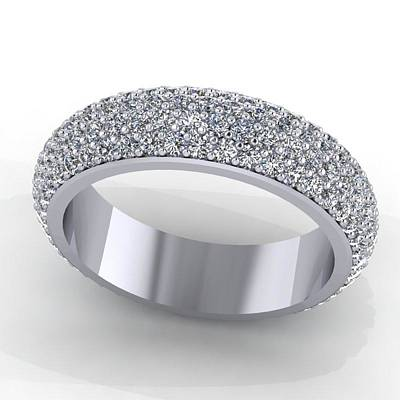 18k Jewelry - 14k White Gold Diamond Eterntiy Band by Eternity Collection