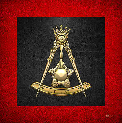 Digital Art - 14th Degree Mason - Perfect Elu Masonic Jewel  by Serge Averbukh