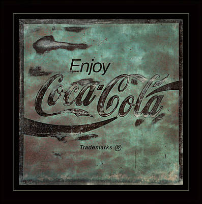 Rusty Coke Sign Photograph -  Coca Cola Sign Grungy Retro Style by John Stephens