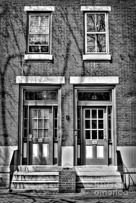 Brick Duplex Photograph - 15 13 In Black And White by Louise Reeves