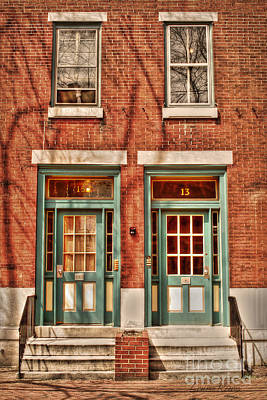 Brick Duplex Photograph - 15 13 by Louise Reeves