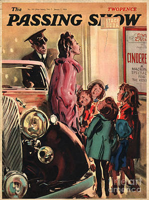 Drawing - 1930s,uk,the Passing Show,magazine Cover by The Advertising Archives