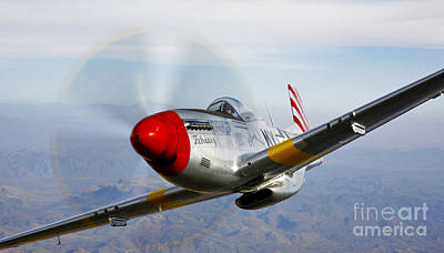 Prescott Photograph - A P-51d Mustang In Flight by Scott Germain