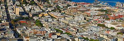 Aerial View Of Buildings In A City Art Print