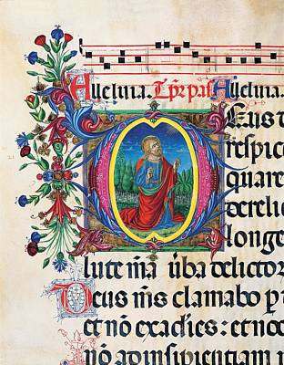 Anonymous Sienese Painter, Psalter Art Print by Everett