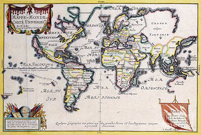 World Map Painting - Antiquie Map by Baltzgar