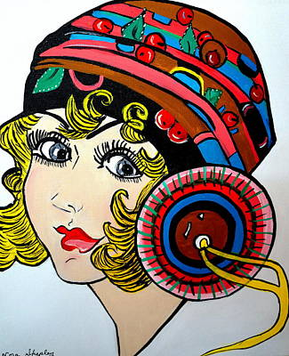 Painting - Art Deco  Ann by Nora Shepley