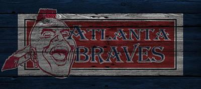 Atlanta Braves Art Print by Joe Hamilton