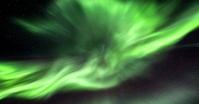 Aurora Borealis In Alaska Art Print