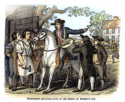 Drum Horse Photograph - Battle Of Bunker Hill, 1775 by Granger