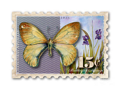 Painting - 15 Cent Butterfly Stamp by Amy Kirkpatrick