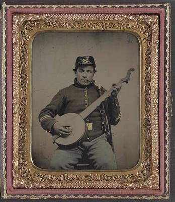 Musician Framed Painting - Civil War Soldier, C1863 by Granger