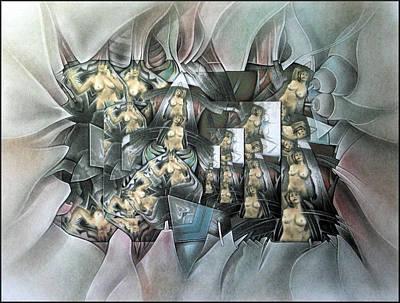 Mixed Media - #15 Clonednudecomp 2003 by Glenn Bautista