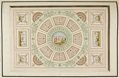 Design For A Ceiling Art Print by British Library