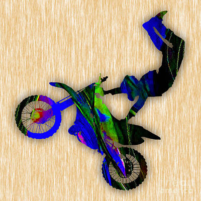 Cycles Mixed Media - Dirt Bike by Marvin Blaine