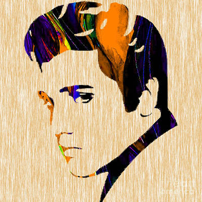 King Of Rock And Roll Mixed Media - Elvis by Marvin Blaine