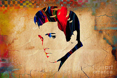 Musicians Mixed Media - Elvis Presley by Marvin Blaine