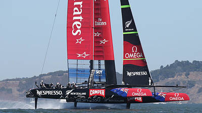 Photograph - Emirates Team New Zealand by Steven Lapkin
