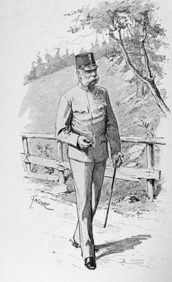 Fence Drawing - Francis Joseph I (1830-1916) by Granger