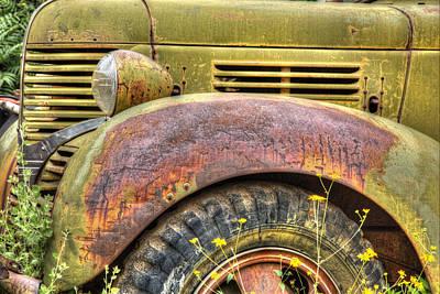 Robert Jensen Photograph - Gold King Mine Rusting Vehicle by Robert Jensen