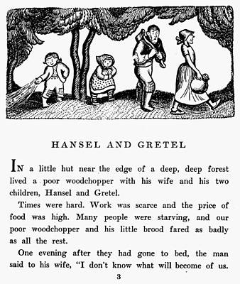 Grimm Hansel And Gretel Print by Granger