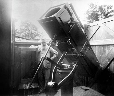 1887 Photograph - 15-inch Reflector Telescope by Royal Astronomical Society