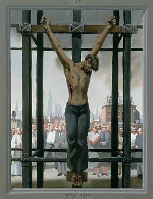 Good Friday Painting - 15. Jesus Dies / From The Passion Of Christ - A Gay Vision by Douglas Blanchard