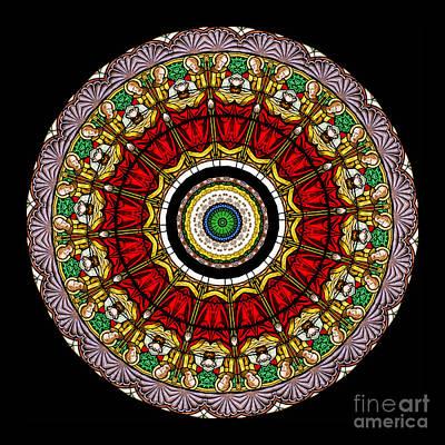 Kaleidoscope Stained Glass Window Series Art Print