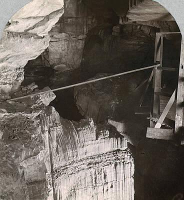 Wooden Platform Painting - Kentucky Mammoth Cave by Granger