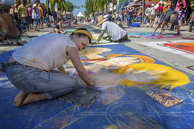 Painter Photograph - Lake Worth Street Painting Festival by Debra and Dave Vanderlaan